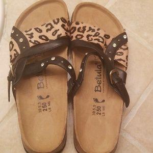 Leopard Birkenstock sandals